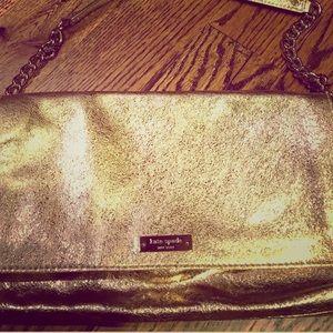 Kate Spade ♠️ Gold shoulder purse- like new